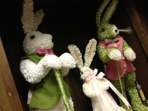 Hydrangea bunnies with vests